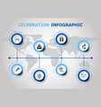 infographic design with celebration icons vector image vector image