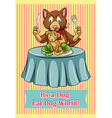 Its a dog eat dog world vector image vector image