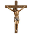 jesus christ crucified on cross vector image