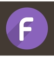 Letter F Logo Flat Icon Style vector image