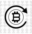 line icon bitcoin money currency vector image vector image