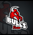 logo template with bull head vector image