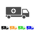 mobile hospital automobile flat icon vector image