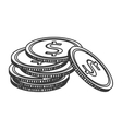 moeny coin pile business finance vector image vector image