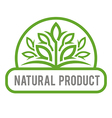 natural product organic healthy garden design vector image vector image