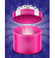 open magic gift box with bow and ribbon stock vector image vector image