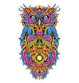 owl artwork ornament tribal detail eps edit vector image