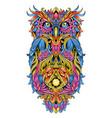 owl artwork ornament tribal detail eps edit vector image vector image