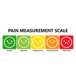 pain measurement scale or pain assessment tool vector image vector image