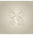 Paper butterfly with vintage pattern vector image