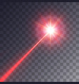 red laser beam vector image vector image