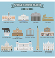 Rome famous places vector image