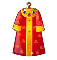 royal cloak hanging on a hanger decorated with vector image vector image