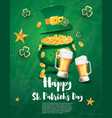 saint patricks day festive banner with pot filled vector image