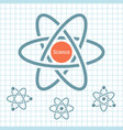 science element with rotating atoms on paper vector image vector image