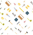 seamless construction tools set pattern vector image vector image