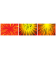 set 3 hyper speed warp sun rays or explosions vector image