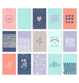 set of art cards Use for wedding vector image