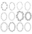 set with oval frames vector image vector image