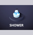 shower isometric icon isolated on color vector image vector image