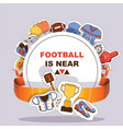 soccer soccerball sticker football pitch and vector image vector image