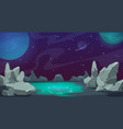 space background game ui cartoon planet landscape vector image
