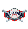sport baseball background image vector image vector image