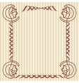 Square decorative frame vector image vector image