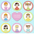 Tags with princess theme vector image vector image