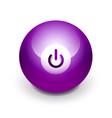 techno futuristic start power button vector image vector image