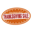 thanksgiving sale stamp vector image vector image