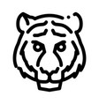 tiger animal icon outline vector image vector image