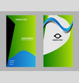 two vertical business cards vector image