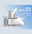 unicorn business startup concept design template vector image
