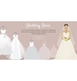 Wedding Dress Web Banner Fashionable Bride vector image vector image