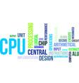 word cloud cpu vector image vector image