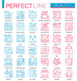 beauty spa cosmetic concept symbols perfect color vector image