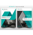 green triangle brochure annual report leaflet vector image