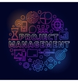 Project Management bright vector image