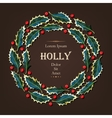 Card with holly vector image