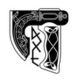 an ax in the celtic style vector image vector image