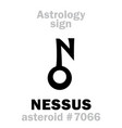 astrology asteroid nessus vector image vector image