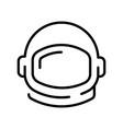 astronaut or cosmonaut helmet monochrome contoured
