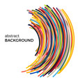 background with multicolored curved lines