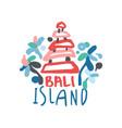 bali island logo template original design exotic vector image vector image