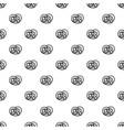 bavarian pretzel pattern seamless vector image