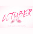 breast cancer card vector image vector image