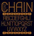 business english alphabet letters collection vector image vector image