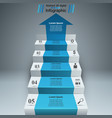 business infographics up the ladder to success vector image vector image