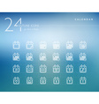 Calendar outline icons set vector image